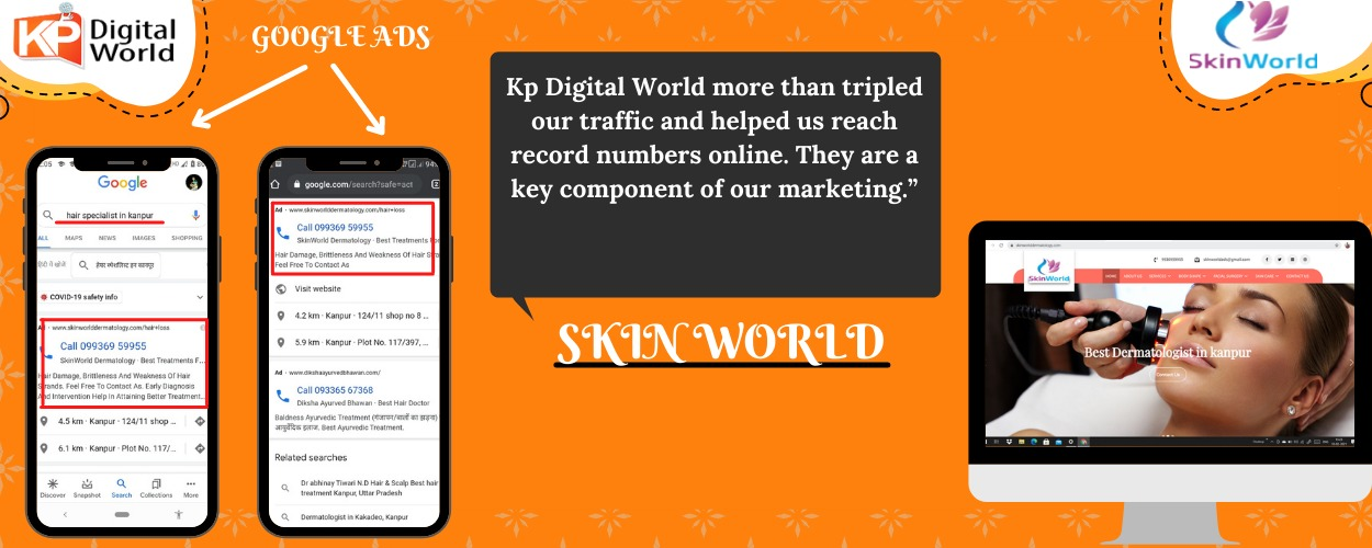 Best digital marketing services in kanpur by skin world kanpur